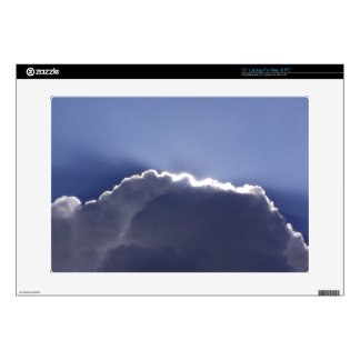 "15"" laptop skin with photo of silver lining cloud"
