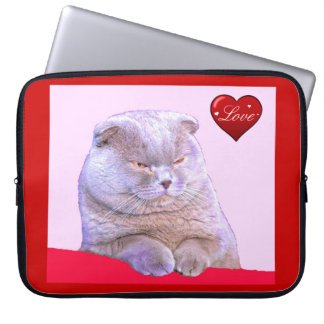 "15"" LAPTOP SLEEVE, FAT GREY CAT/DISCOUNT LAPTOP COMPUTER SLEEVES"