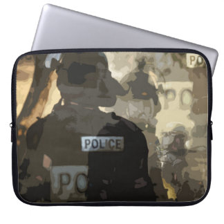 """15"""" Laptop Sleeve with Police Art"""