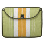 "15"" MacBook Sleeve - Green & Gold Racing Stripes Sleeve For MacBook Pro"