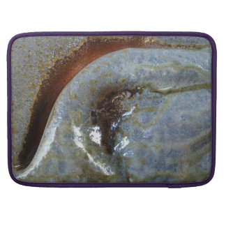 "15"" MacBoookPro -Abstract clay fold with ash glaze Sleeve For MacBook Pro"