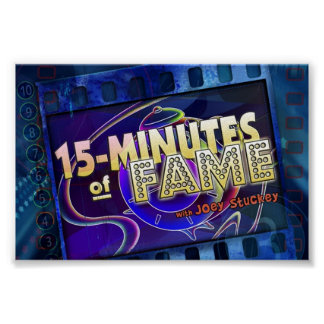15-Minutes of Fame Logo Poster