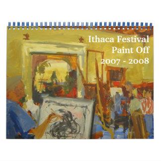 15 Month Ithaca Festival Paint Off Calendar