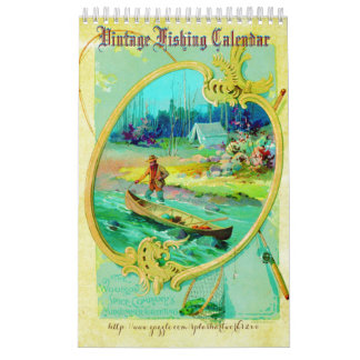 """15 Month Vintage Fishing"" Calendar"