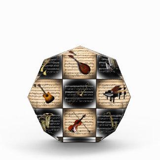 15 Musical Instruments ~ Sheet Music Background Award