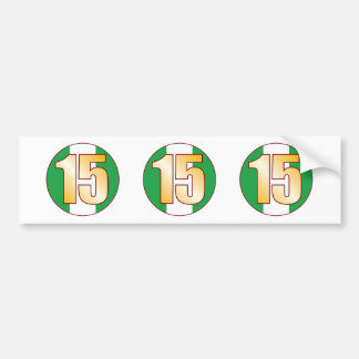 15 NIGERIA Gold Bumper Sticker