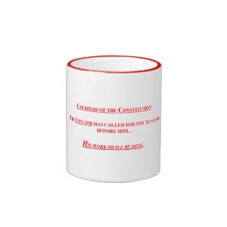 15 onzas. Taza de café con USUPERS DE LA