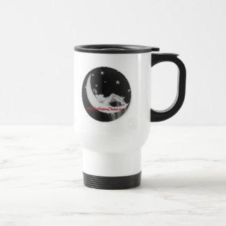 15 oz Black and White Goddess On Moon Travel Mug