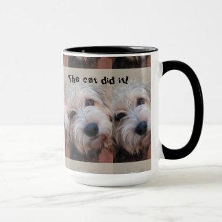 15 oz Coffee Mug Dog Blames the Cat