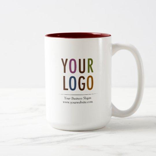 15 oz Custom Mug with Company Logo No Minimum Zazzlecom