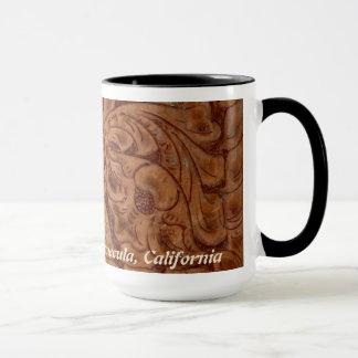 15 oz mug Rancho Del Vinedos Temecula CA  leather