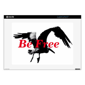 "15"" PC/Mac laptop skin ""Bee Free"" pelican"