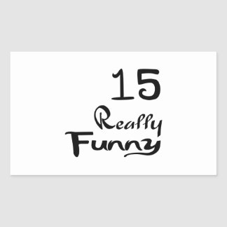 15 Really Funny Birthday Designs Rectangular Sticker