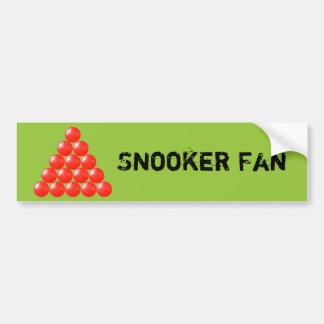 15 Red Snooker Balls Triangle Car Bumper Sticker