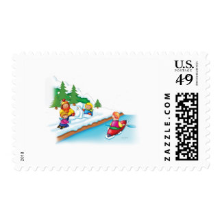 15_snow_paddler postage stamp