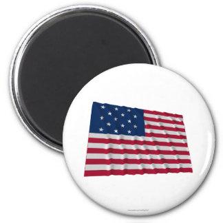 15-star flag 2 inch round magnet
