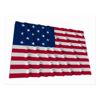 15-star flag postcard