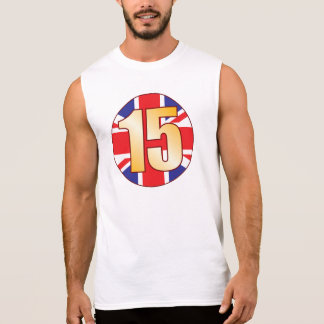 15 UK Gold Sleeveless T-shirt