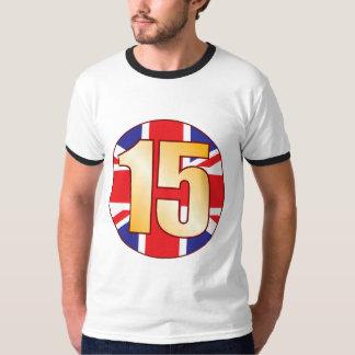 15 UK Gold Tee Shirt