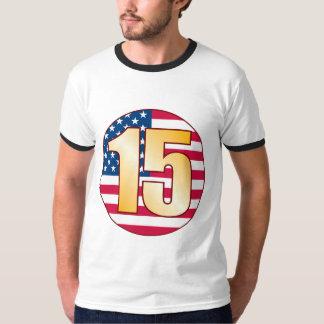 15 USA Gold Tee Shirt