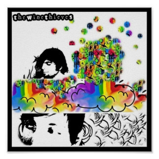 "15"" x 15"" the wine thieves RainbowBurst Poster"