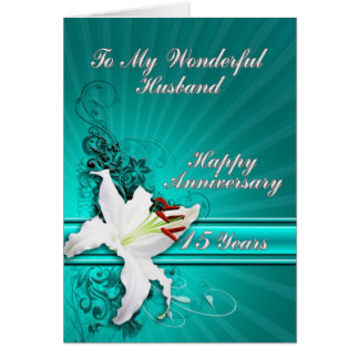 15 year Anniversary card for a husband