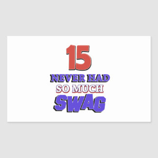 15 Year Old Birthday Gift Rectangular Sticker