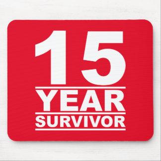 15 year survivor mouse pad