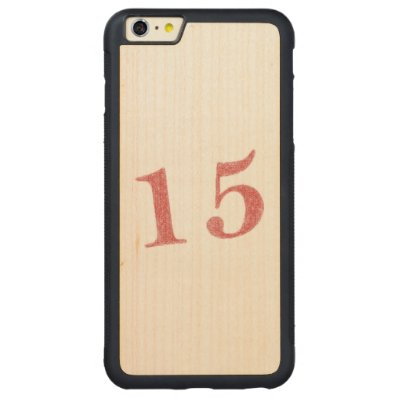 15 years anniversary carved® maple iPhone 6 plus bumper