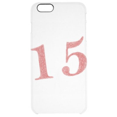 15 years anniversary clear iPhone 6 plus case