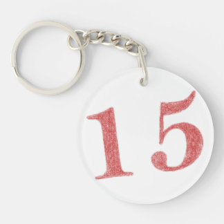 15 years anniversary Single-Sided round acrylic keychain
