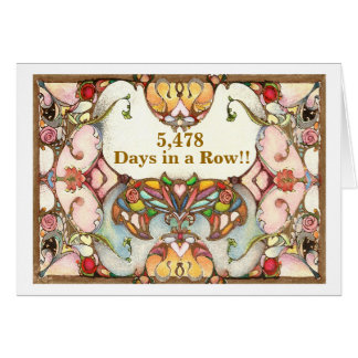 15 Years of Recovery Days Greeting Card