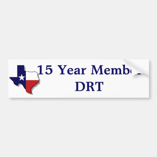 15 Yr Member Bumper Sticker