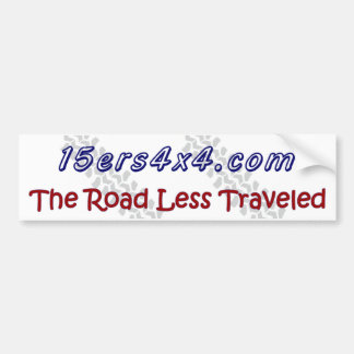 15ers4x4 - El camino viajó menos Pegatina De Parachoque