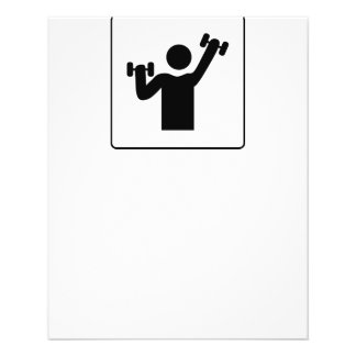 """15G GYM HEALTHY ATHLETE ICON FITNESS EXCERCISE WEI 4.5"""" X 5.6"""" FLYER"""