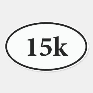 15k oval sticker