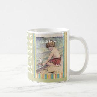 15oz Mug, Beach House /Sally Coupe Jacobson-... Coffee Mug