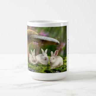 15oz Mug: Rabbits in Wonderland Rabbits mushrooms Coffee Mug