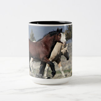 15oz of ZEUS for your MUSTANG MUD! Two-Tone Coffee Mug