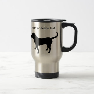 15oz traveler mug black lab silhouette