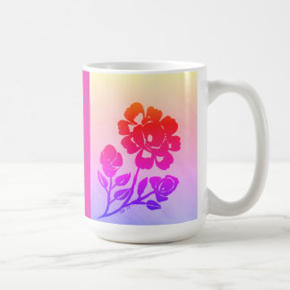 15oz. Tropical Rose Silhouette Coffee Mug