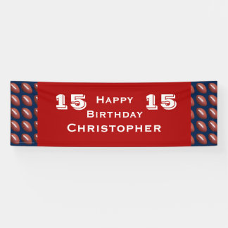 15th 16th 18th Birthday Party Teen JUMBO Football Banner
