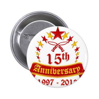 15th Anniversary 2 Inch Round Button