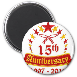 15th Anniversary 2 Inch Round Magnet