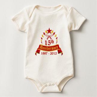 15th Anniversary Baby Bodysuits