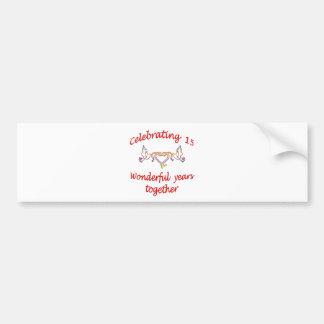 15th. ANNIVERSARY Bumper Sticker