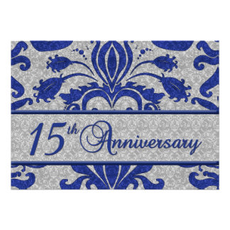 15th Anniversary Business Announcement Blue
