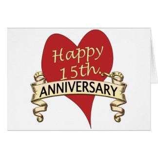 15th. Anniversary Card