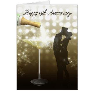 15th Anniversary - Champagne Card