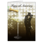 15th Anniversary - Champagne Greeting Cards
